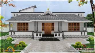 Kerala Style Single Floor House Plan by Single Home Designs Single Floor House With Stair Room