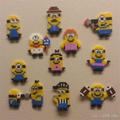 imagenes hama minions 뚜찌빠찌뽀찌 미니언즈 펄러비즈 minions perler beads 네이버 블로그