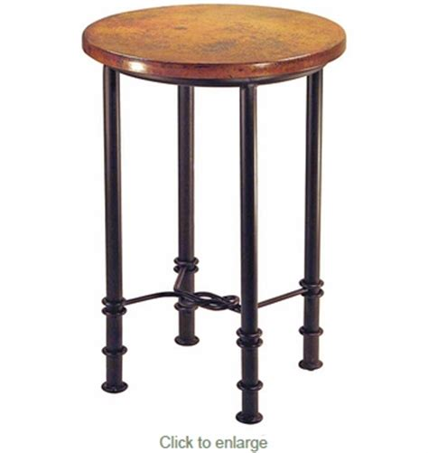 copper top bar table figure eight round bar table with copper top