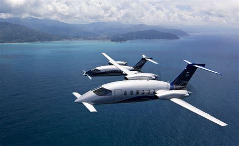 piaggio avanti evo p twin turboprop aircraft takes