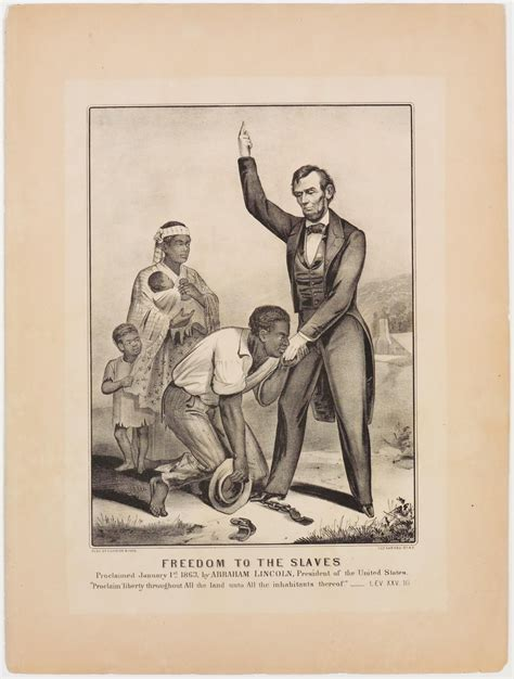 how many child did abraham lincoln freedom to the slaves proclaimed january 1st 1863 by