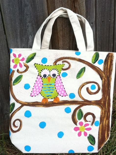 Totebag Owl Murah owl painted canvas bag painted shoes shirts