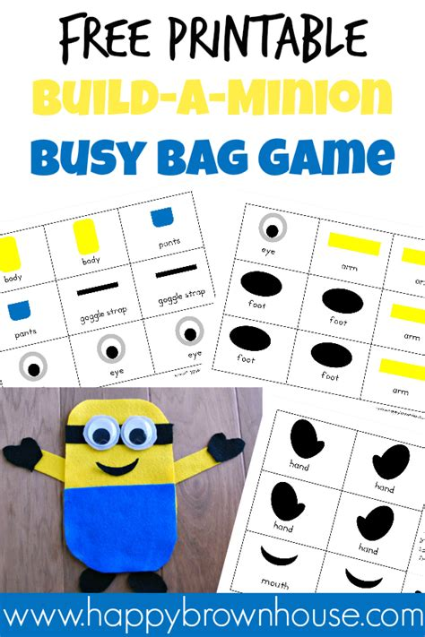 minions free printable activities and free printables bags busy bags and free printable
