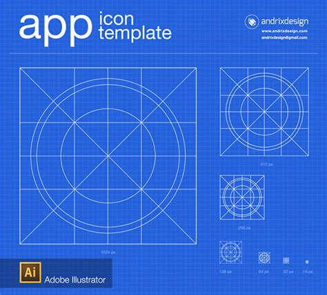 App Icon Template Illustrator App Icon Template On Behance