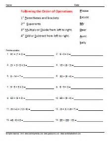 simple order of operations worksheets amp quiz