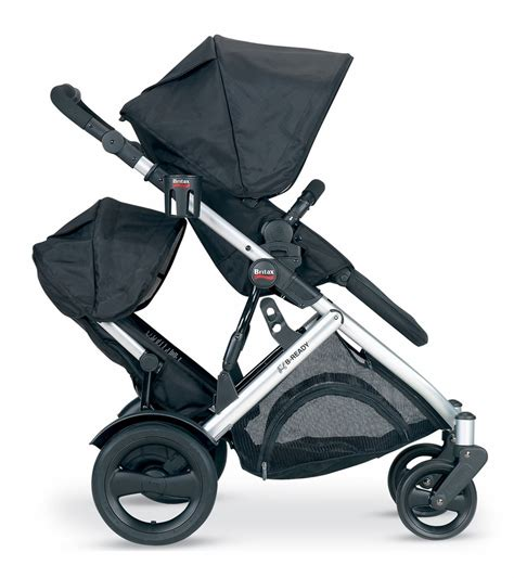 britax b ready stroller second seat black