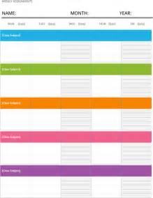 weekly schedule template for excel pdf and word