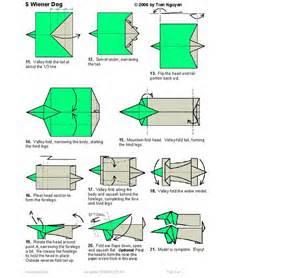 Origami Weiner - weiner origami part 2 wiener dogs