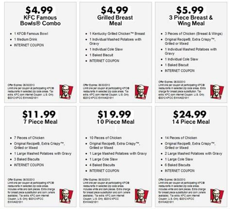 Kfc Printable Coupons December 2017