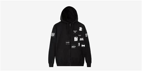 Zipper Hoodie Manchester City 06 P1h4 underground black hoodie with zipper and patches