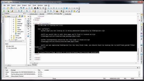 tutorial codeigniter template codeigniter tutorials basic website getting started