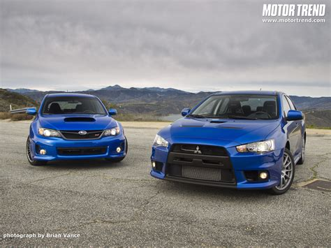 Mitsubishi Wrx Sti 2011 Subaru Wrx Sti And 2010 Mitsubishi Lancer Evolution X