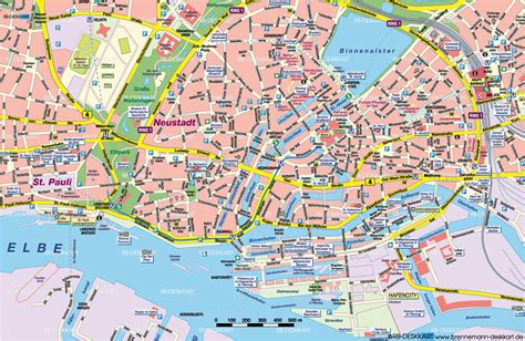 printable map hamburg hamburg street map hamburg germany mappery