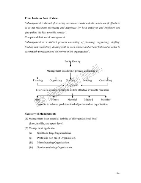 Mba Lecture Notes On Leadership principles of management lecture notes for mba