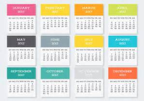 colorful pocket calendar cards collection vector graphic