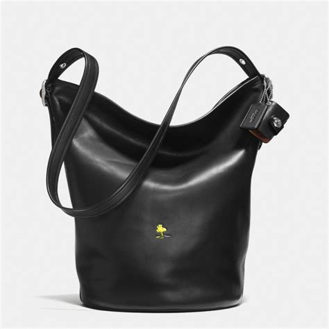 Coach Bleeker Leather Large Duffle by Coach X Peanuts Bleecker Duffle In Leather In Black Lyst