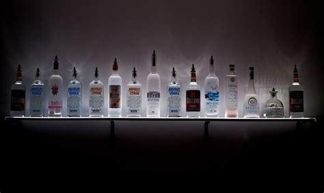 Liquor Display Shelf by Led Lighted Wall Mounted Liquor Shelves Bottle Display