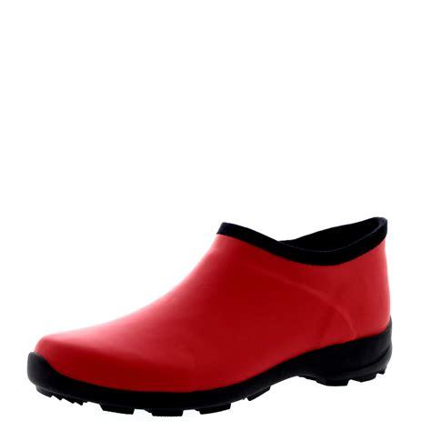 womens rubber welly shoes garden snow waterproof