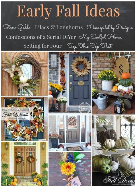 Early Decorations by Early Fall Inspiration Confessions Of A Serial Do It