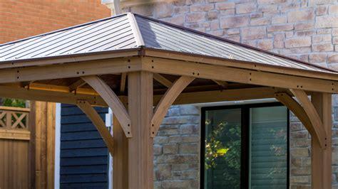 gazebo 12x12 meridian 12 x 12 wood gazebo with aluminum roof yardistry