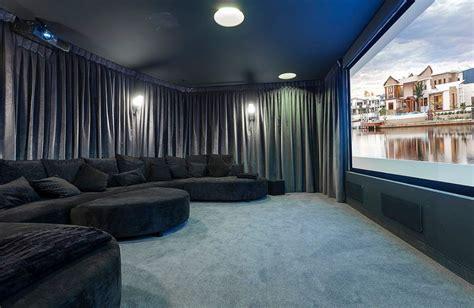 media room velvet curtains home decorating trends homedit
