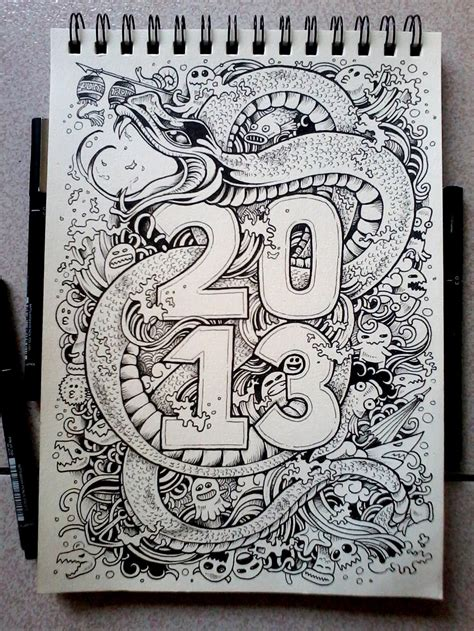doodle snake free doodle year of the water snake by kerbyrosanes on