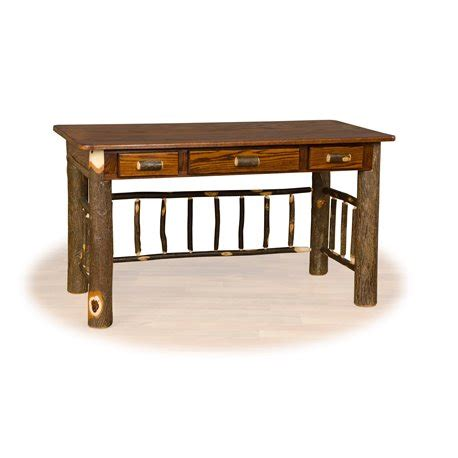 hickory office furniture rustic hickory and oak desk