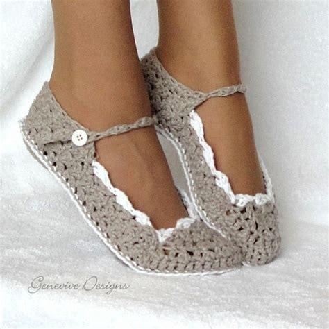 free pattern for crochet slippers skinny flats slippers crochet pattern 21 by genevive craftsy