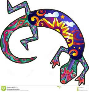 kokopelli lizard stock vector image 54006814