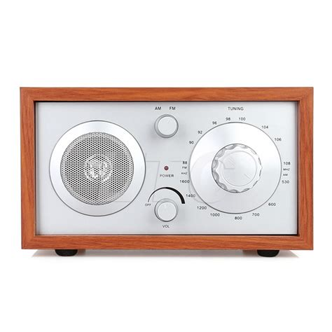 radioddity sy 602 classic wooden am fm table top