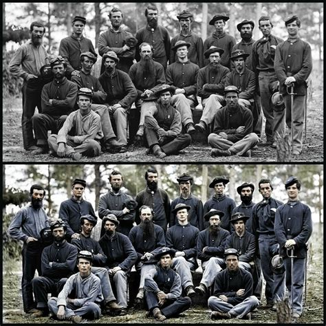 the color war civil war color added digital color added to b w picture