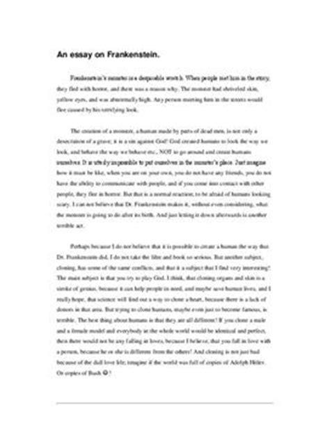 Frankenstein Essays by Frankenstein Essay Schulhilfe De