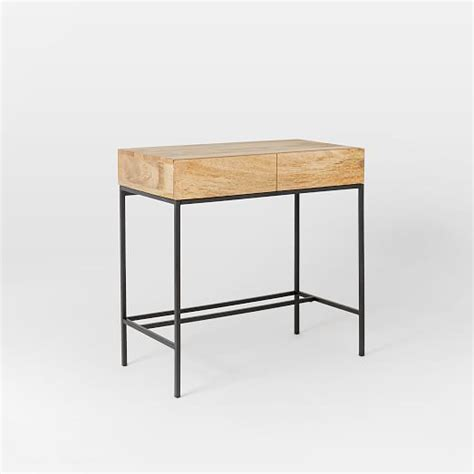 west elm industrial desk industrial storage mini desk west elm