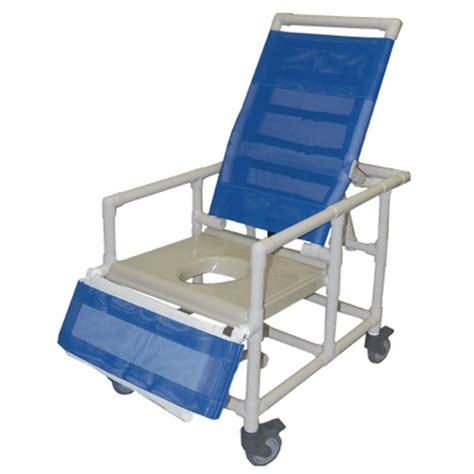 Reclining Shower Commode Chair by Healthline Bariatric Reclining Shower Commode Chair With