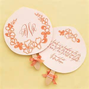 martha stewart wedding program template floral paper fans recipes crafts home d 233 cor and more