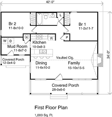 1000 Sq Ft Garage Plans by Country Style House Plan 2 Beds 1 00 Baths 1000 Sq Ft
