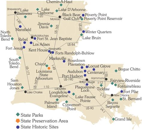 jones louisiana map find parks historic louisiana state parks