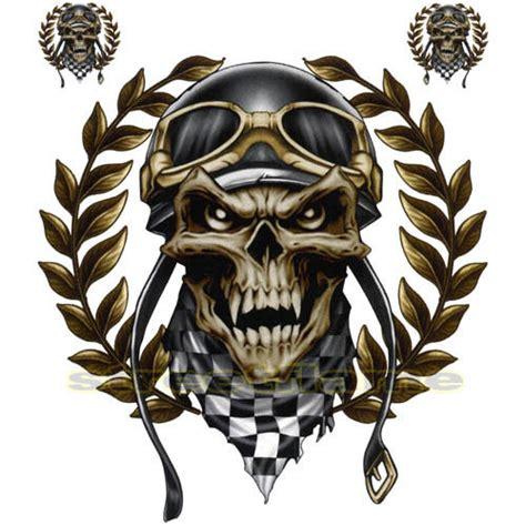 Kaos Skull Joker Lp decal graphic motorcycle windscreens air brush racing skull biker helmet ebay
