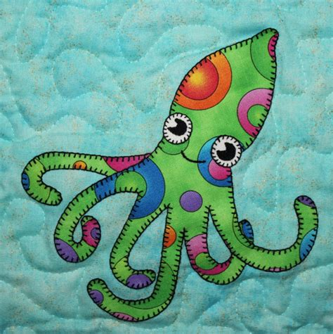 Octopus Quilt Pattern by Octopus Pdf Applique Block Pattern Or By Mspdesignsusa