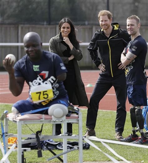 harry and meghan prince harry and meghan markle attend team trials for