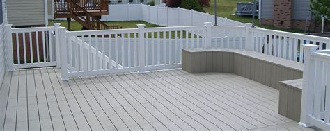 vinyl deck fence railing vinyl decking penn fencing
