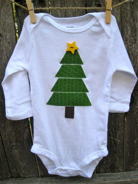baby christmas tree onesie holiday cheer pinterest