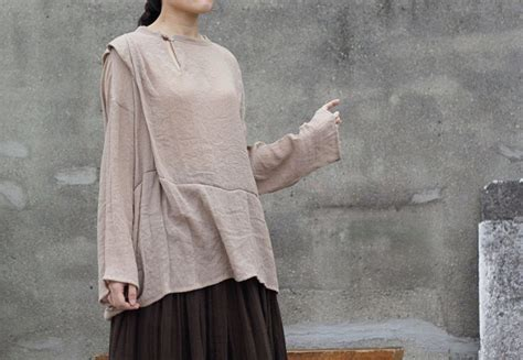 cotton blended asymmetrical top unique designer cheongsam style sleeves shirt chi