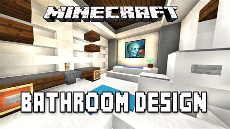 minecraft tutorial     modern bathroom design