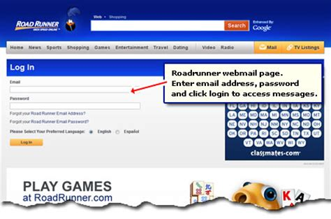 how to access roadrunner email rr webmail driverlayer search engine