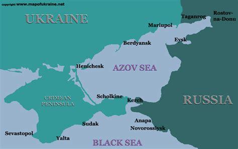 russia map black sea recreation lodges on the sea of azov coast is on sale