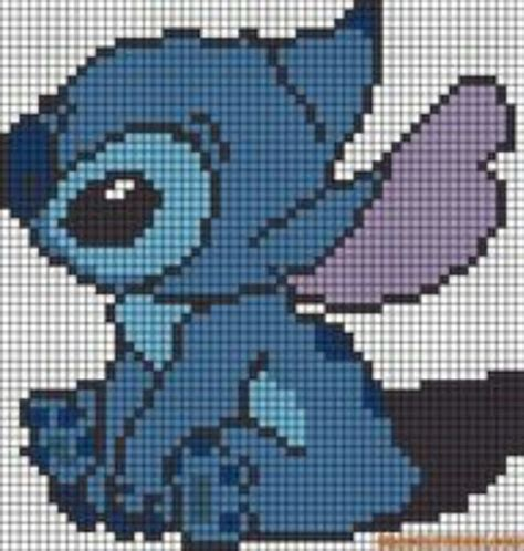 grid pattern for cross stitch lilo and stitch stitch sprite grid sprite grids