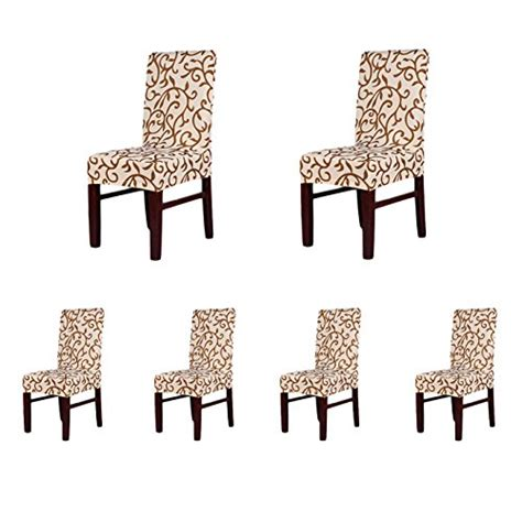 4 x soft fit stretch short dining room chair covers 6 x soft fit stretch short dining room chair covers