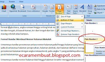 format layout makalah boiklop cara membuat halaman makalah nomor halaman