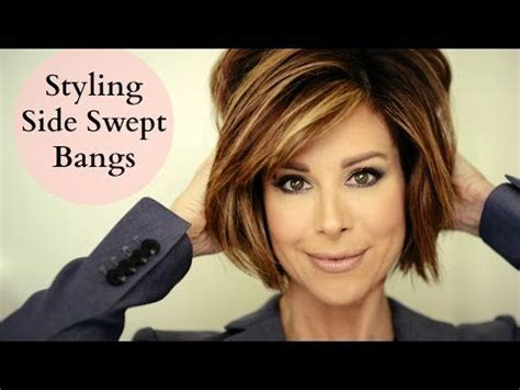 how to blow dry a bob hairstyle youtube 25 best ideas about side swept bangs on pinterest